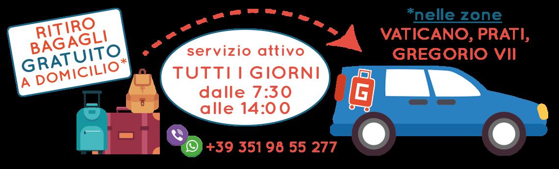 Deposito bagagli roma